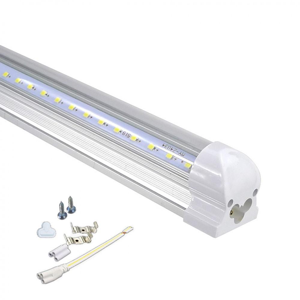 LED Fénycső Armatúrával T8 150cm 24W Hidegfehér