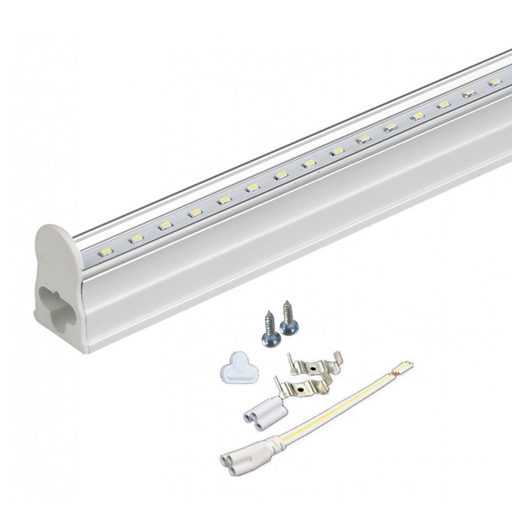 LED Fénycső Armatúrával T5 30cm 5W Hidegfehér